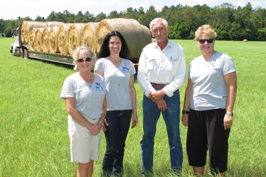 Hay Rolls with H & P girls